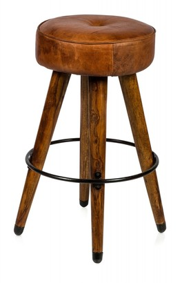 Home & Giftware Infinity Leather Stool