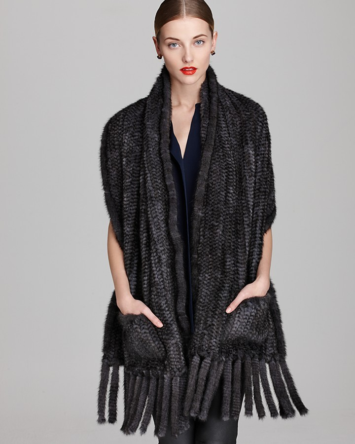 Christian Cota Maximilian Dyed Knitted Mink Stole