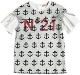 N°21 Anchor Cotton Jersey & Tulle T-Shirt