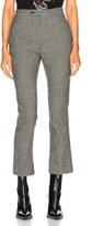 R 13 Skinny Kick Flare Trouser Pant in Black,Checkered & Plaid.