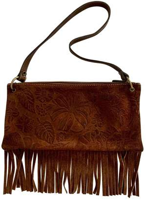 N. Non Signé / Unsigned Non Signe / Unsigned \N Brown Suede Clutch bags