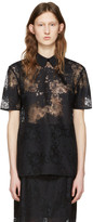 Carven Black Lace Blouse