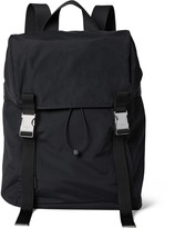 Sandro Leather and Mesh-Trimmed Shell Backpack