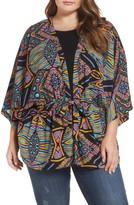 Melissa McCarthy Plus Size Women's Tie Front Kimono Jacket