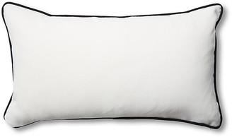 One Kings Lane Outdoor Newport 14x24 Lumbar Pillows - White/Black
