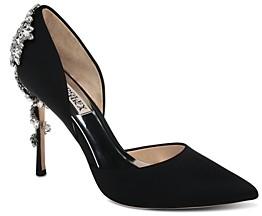 Badgley Mischka Women's Vogue Pointed Toe Satin High-Heel Pumps