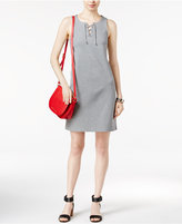 Tommy Hilfiger Hollis Lace-Up Sheath Dress, Only at Macy's