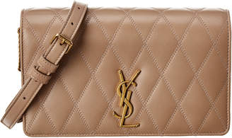 Saint Laurent Angie Diamond Quilted Leather Shoulder Bag