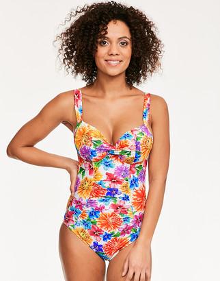 Figleaves Margarita Underwired Twist Plunge Tummy Control Swimsuit D-G cup