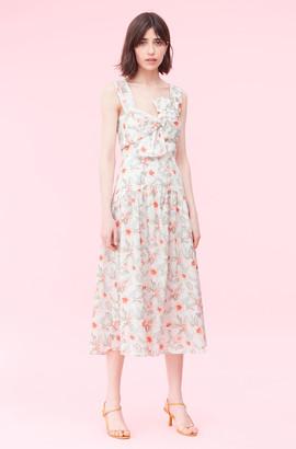 Rebecca Taylor Kamea Fleur Bow Dress