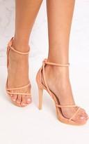 PrettyLittleThing Peach Strappy Heels