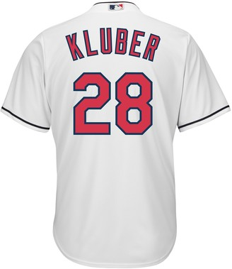Majestic Men's Cleveland Indians Corey Kluber Cool Base Replica MLB Jersey