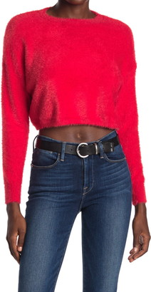 Charlie Holiday Halo Eyelash Knit Crop Sweater