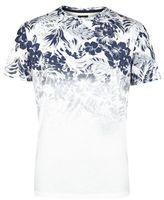 Burton Mens White Floral Fade T-Shirt