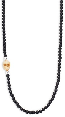 King Baby Studio Sterling Silver Beaded Onyx Necklace