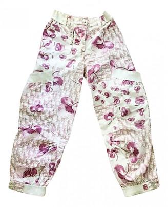 Christian Dior Multicolour Cotton Trousers