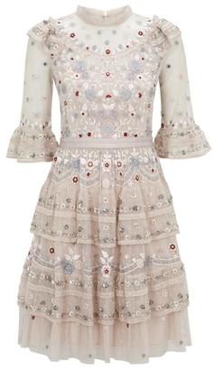 Needle & Thread Eden Beaded Lace Mini Dress