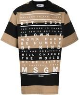 MSGM striped typography-print T-shirt