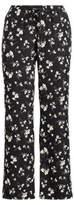 Ralph Lauren Floral Wide-Leg Pant Black/Cream 4