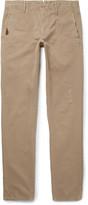 Incotex - Slim-fit Distressed Cotton-twill Trousers