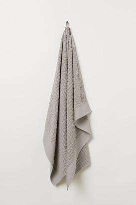 H&M Jacquard-weave Bath Sheet - Brown