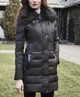 Weatherproof Black Faux Fur-Trim Polyfill Puffer Coat - Plus Too