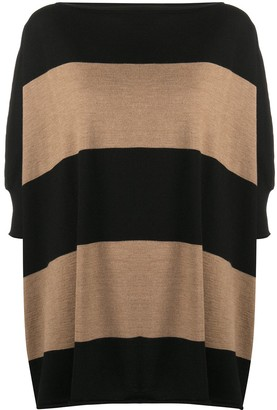 Societe Anonyme Striped Oversized Knitted Top