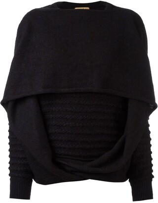 Issey Miyake Pre-Owned knitted draped sweater