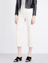 Sandro Flared wide-leg high-rise jeans