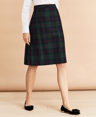Brooks Brothers Tartan Pleated Skirt