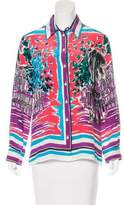 Alberta Ferretti Silk Printed Top