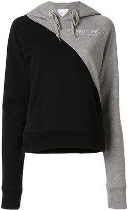 Helmut Lang Embroidered Colour-Block Hoodie