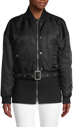 Opening Ceremony Belted Crop Bomber Jacket