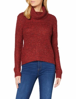 Dorothy Perkins Women's Red Op Chunky Roll Cardigan Sweater 14