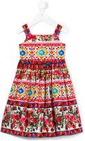 Dolce & Gabbana Majolica print sun dress - kids - Cotton - 24 mth