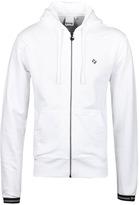 Money White Diamond Zip Hooded Sweatshirt