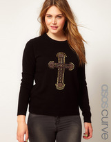 Asos Sweater With Embellished Cross