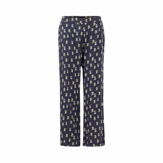 Weird Fish Tresco Printed Cropped Trouser Navy Size 14
