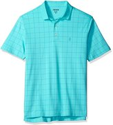 Izod Men's Interlock Short Sleeve Windowpane Polo Shirt