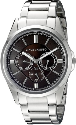 Vince Camuto Mens Analogue Classic Quartz Watch with Stainless Steel Strap VC/1084BYSV