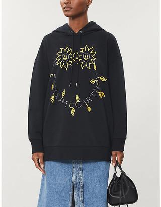 Stella McCartney Graphic-print cotton-jersey hoody
