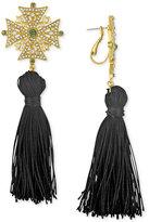 Rachel Roy Gold-Tone Tassel Drop Earrings