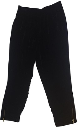 Gat Rimon Black Silk Trousers for Women