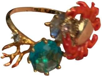 Les Nereides Blue Gold plated Rings