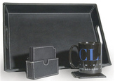 Clava 9901 Leather Serving Tray