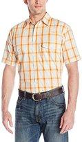Wrangler Men's Wrinkle Resist Western Short Sleeve Woven Shirt