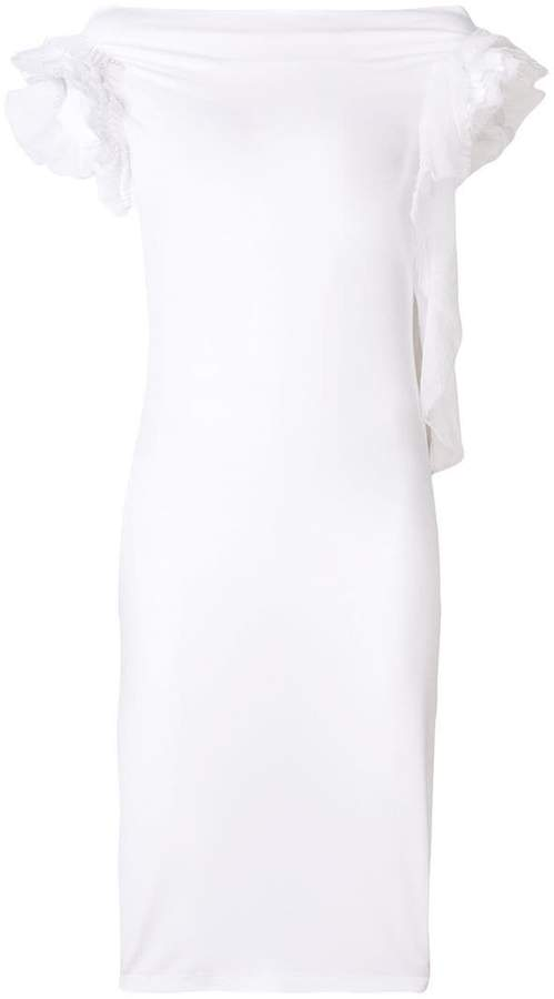 Givenchy froufrou sleeve dress