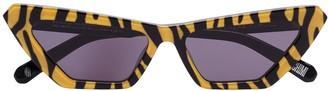 Chimi Tiger-Print Cat-Eye Sunglasses
