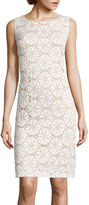 Ronni Nicole Sleeveless Medallion Lace Sheath Dress