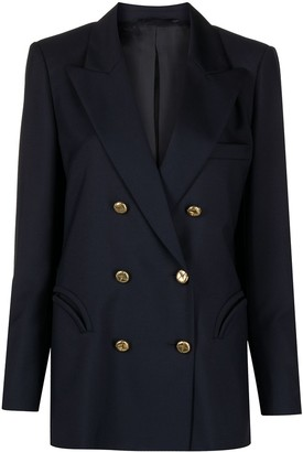 BLAZÉ MILANO Virgin Wool-Modal Blend Double-Breasted Blazer